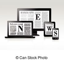 News media clipart graphic transparent stock Clip Art Vector of Mass media concept news radio newspaper - Mass ... graphic transparent stock