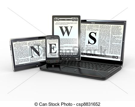 News media clipart stock Clip Art of Media. Electronic news. 3d - Media. Text NEWS on ... stock