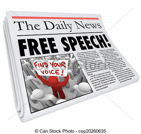 News media clipart png black and white download Stock Photos of Free Speech Newspaper Headline News Media ... png black and white download