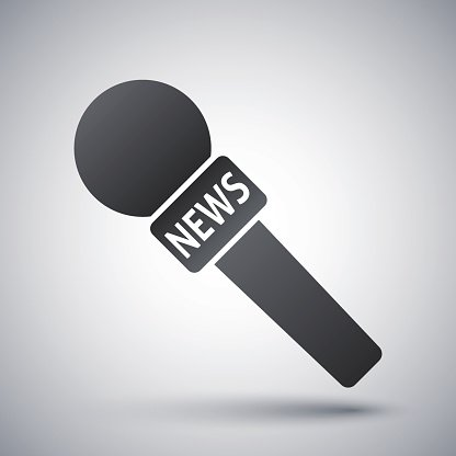 News microphone clipart