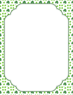 Newsletter border clipart image royalty free download St. Patrick\'s Day Border 5 | Library Use Clip Art | St patricks day ... image royalty free download