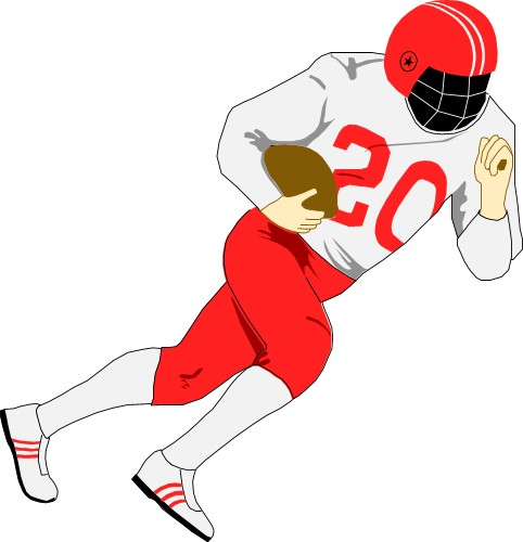 Nfl football character clipart picture transparent library Football Player Clipart - Clipartion.com picture transparent library