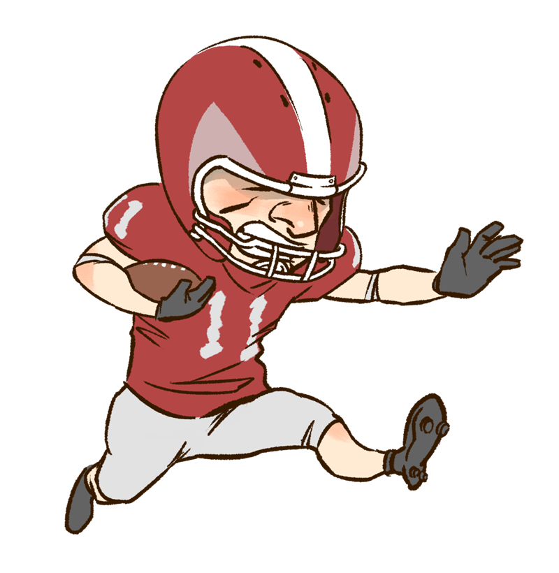 Black & white football clipart vector transparent stock Kid clipart nfl animated - ClipartFest vector transparent stock