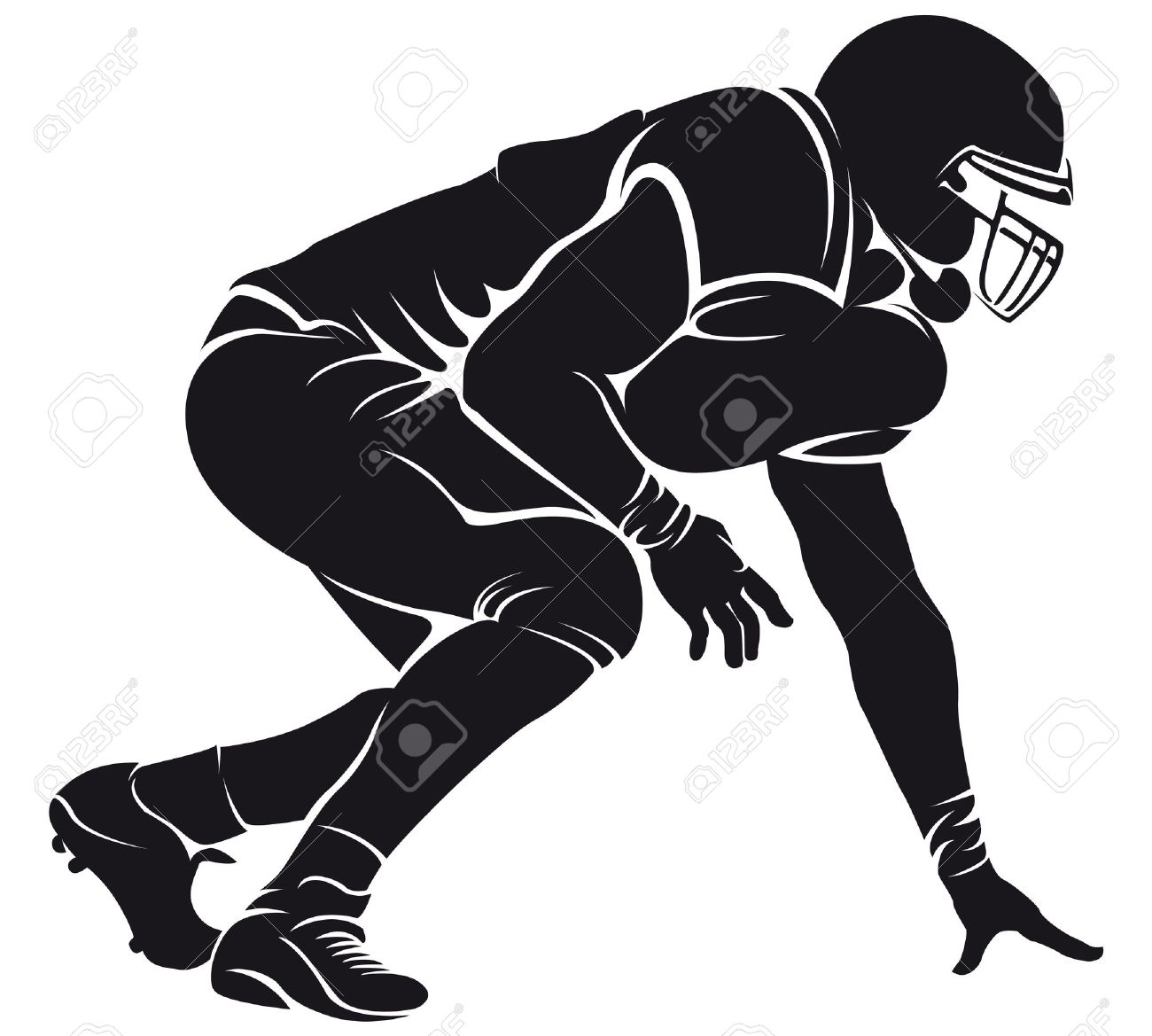 Nfl football character clipart picture freeuse Best Football Player Clipart #20919 - Clipartion.com picture freeuse