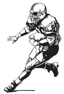 Nfl football character clipart picture black and white stock Nfl football character clipart - ClipartFest picture black and white stock