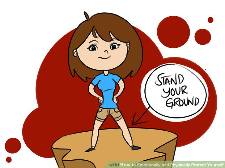 Nice girl helping somebody from getting hurt clipart vector How to Emotionally and Physically Protect Yourself: 14 Steps vector