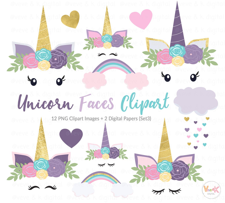 Nicorn clipart jpg black and white Purple Unicorn Faces Clipart, Unicorns Clipart, Purple Unicorns, Gold  Glitter Unicorn Clipart, Purple Clipart, Unicorn Graphics, Unicorns jpg black and white