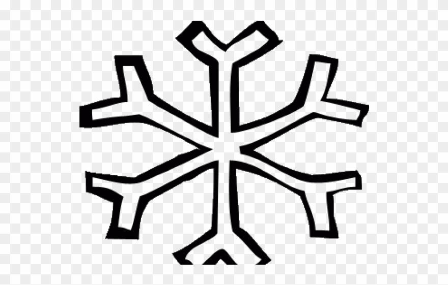 Nieve clipart jpg black and white download Snowflake Clipart Easy - Copo De Nieve Silueta - Png Download ... jpg black and white download
