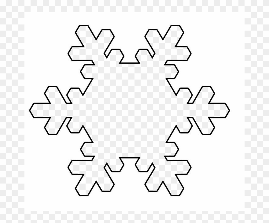 Nieve clipart png transparent Copo De Nieve Png 339404 - Snowflake Black And White Simple Clipart ... png transparent