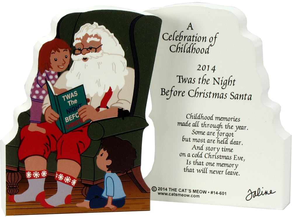 Night before christmas clipart clipart library download Twas The Night Before Christmas Santa | The Cat's Meow Village clipart library download