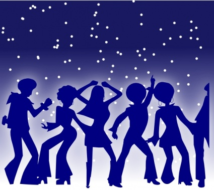 Night party clipart graphic royalty free library Free download of Disco Dancers clip art Vector Graphic - Vector.me graphic royalty free library