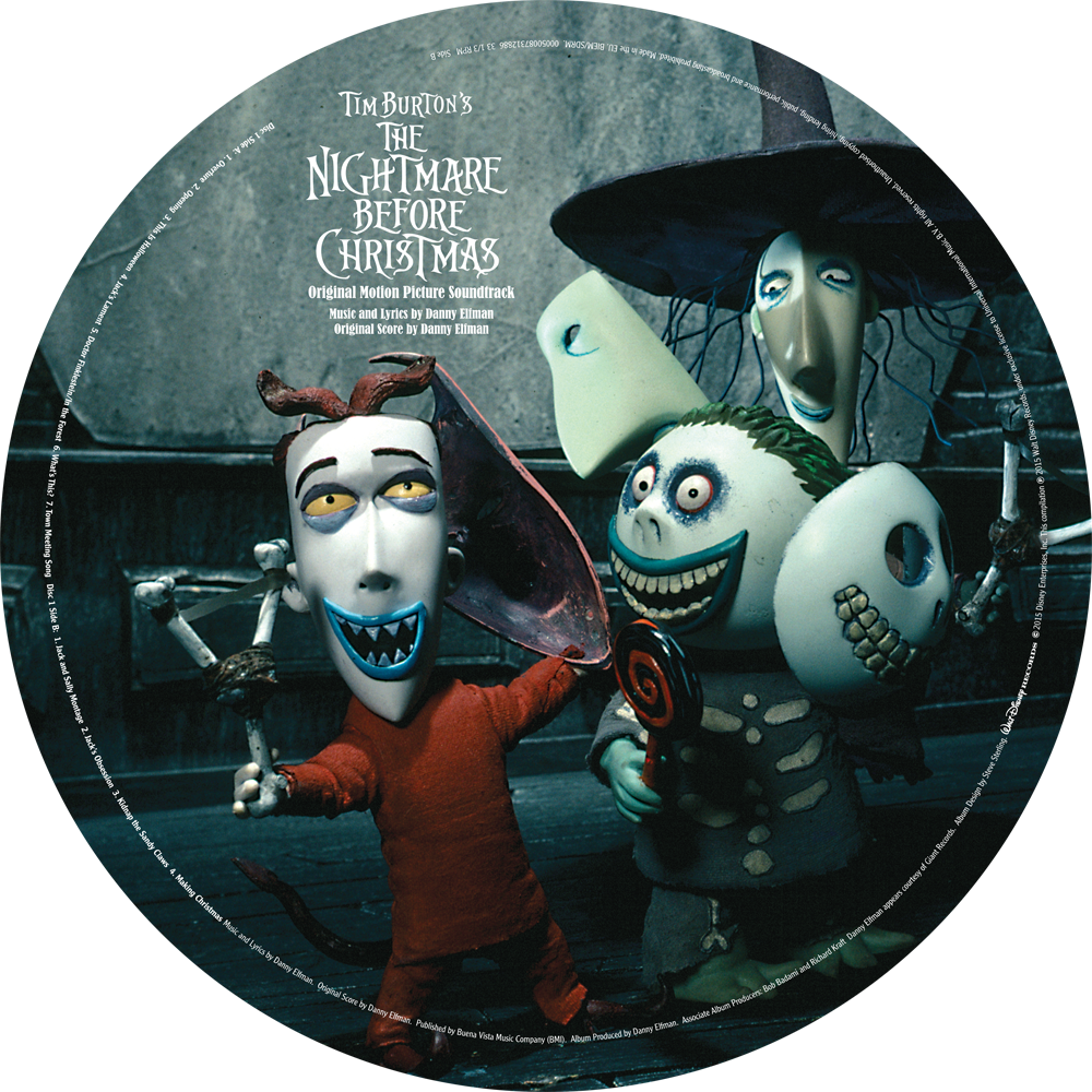 Nightmare before christmas clipart free jpg library Various Artists – Nightmare Before Christmas – Picture Disc 2LP ... jpg library
