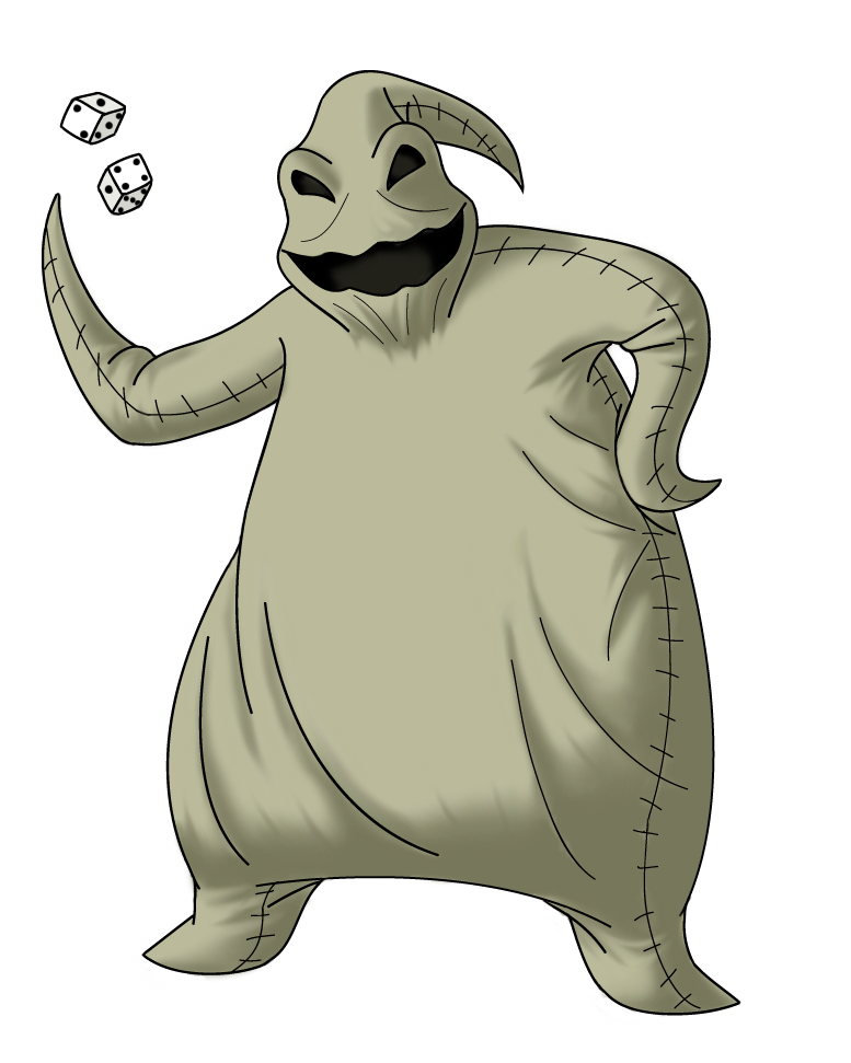 Nightmare before christmas characters clipart graphic black and white Oogie Boogie is   to Tim burton and Touchstone pictures ... graphic black and white