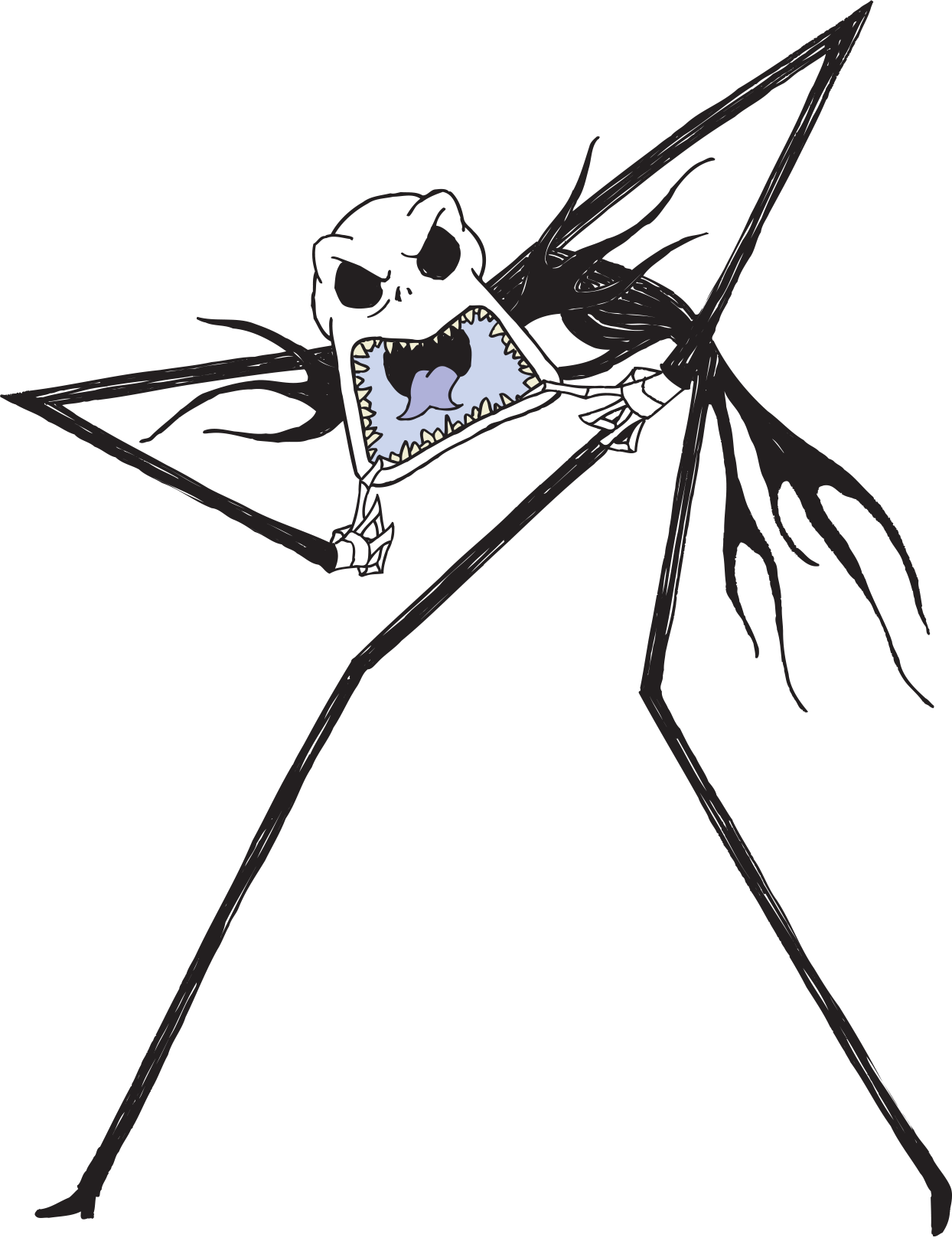 Nightmare before christmas clipart black and white graphic download Nightmare Before Christmas Sticker Book | Disney LOL graphic download