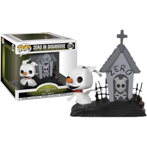 Nightmare before christmas zero pop clipart picture black and white library Disney The Nightmare Before Christmas Zero in Dog House EXC Pop! Movie  Moment picture black and white library