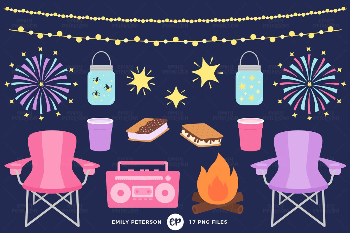 Summer night clipart svg free Summer Nights Clipart svg free