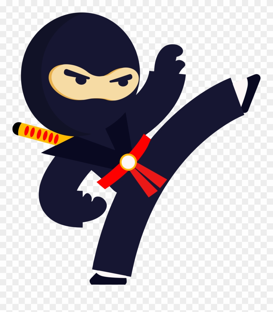 Nija clipart picture black and white stock Big Image - Kicking Ninja Clipart - Png Download (#690354) - PinClipart picture black and white stock