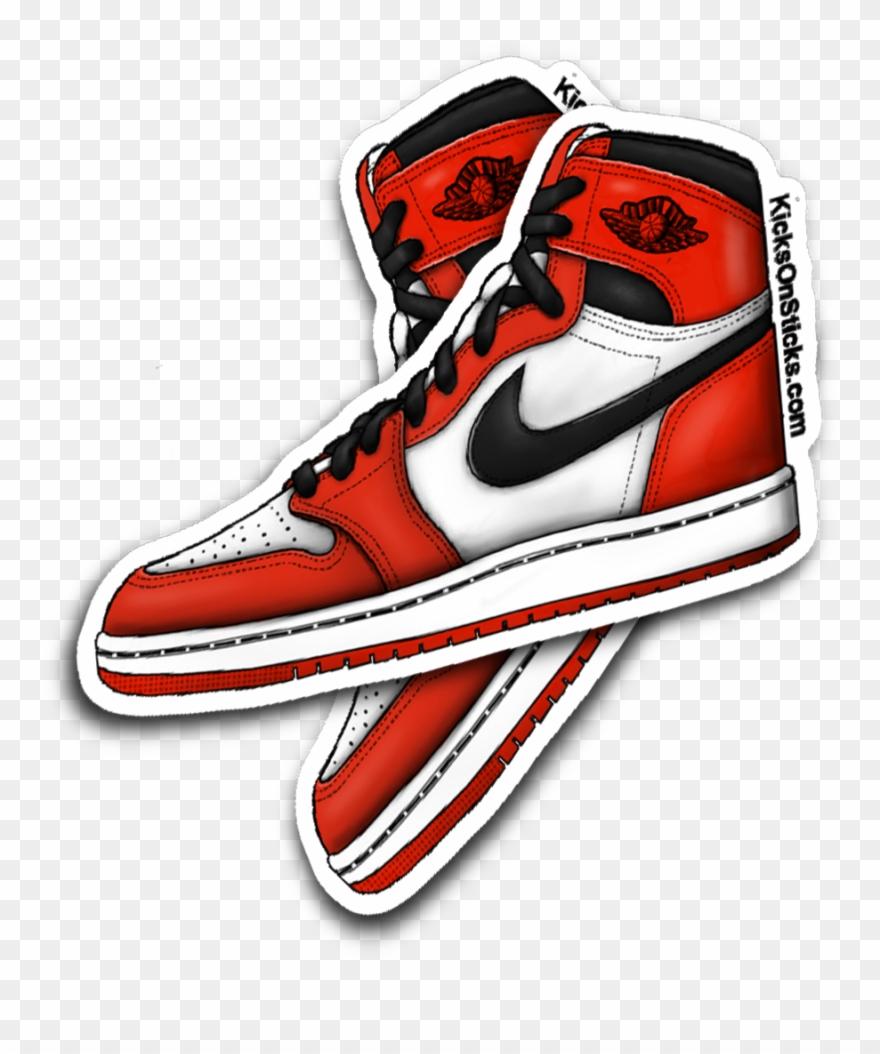 Nike air jordan clipart graphic black and white Jordan 1 \