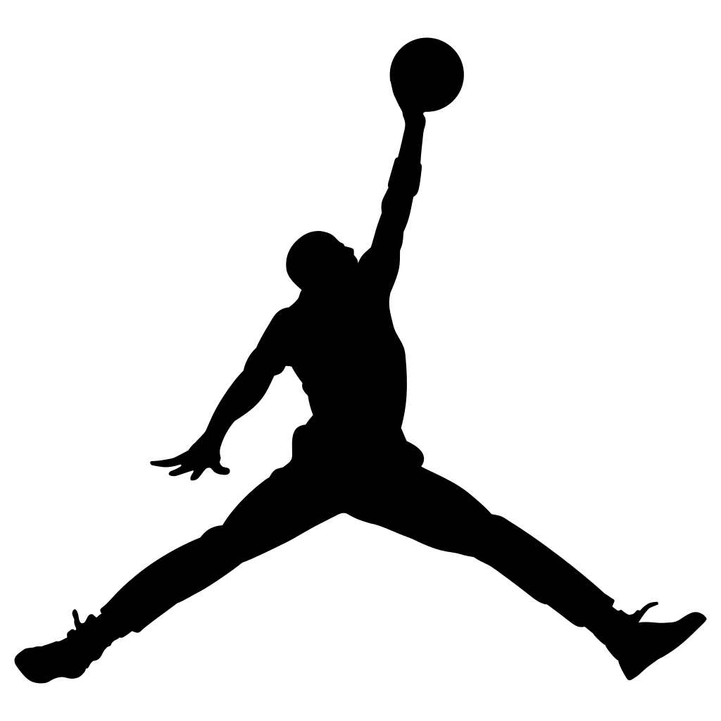 Nike basketball clipart black and white svg free library Jordan Logo Jumpman Nike transparent PNG - StickPNG svg free library