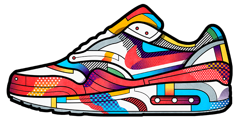 Nike basketball tennis shoe clipart vector royalty free library Sneakers set. In collaboration with Ageha sneakers shop. http://www ... vector royalty free library