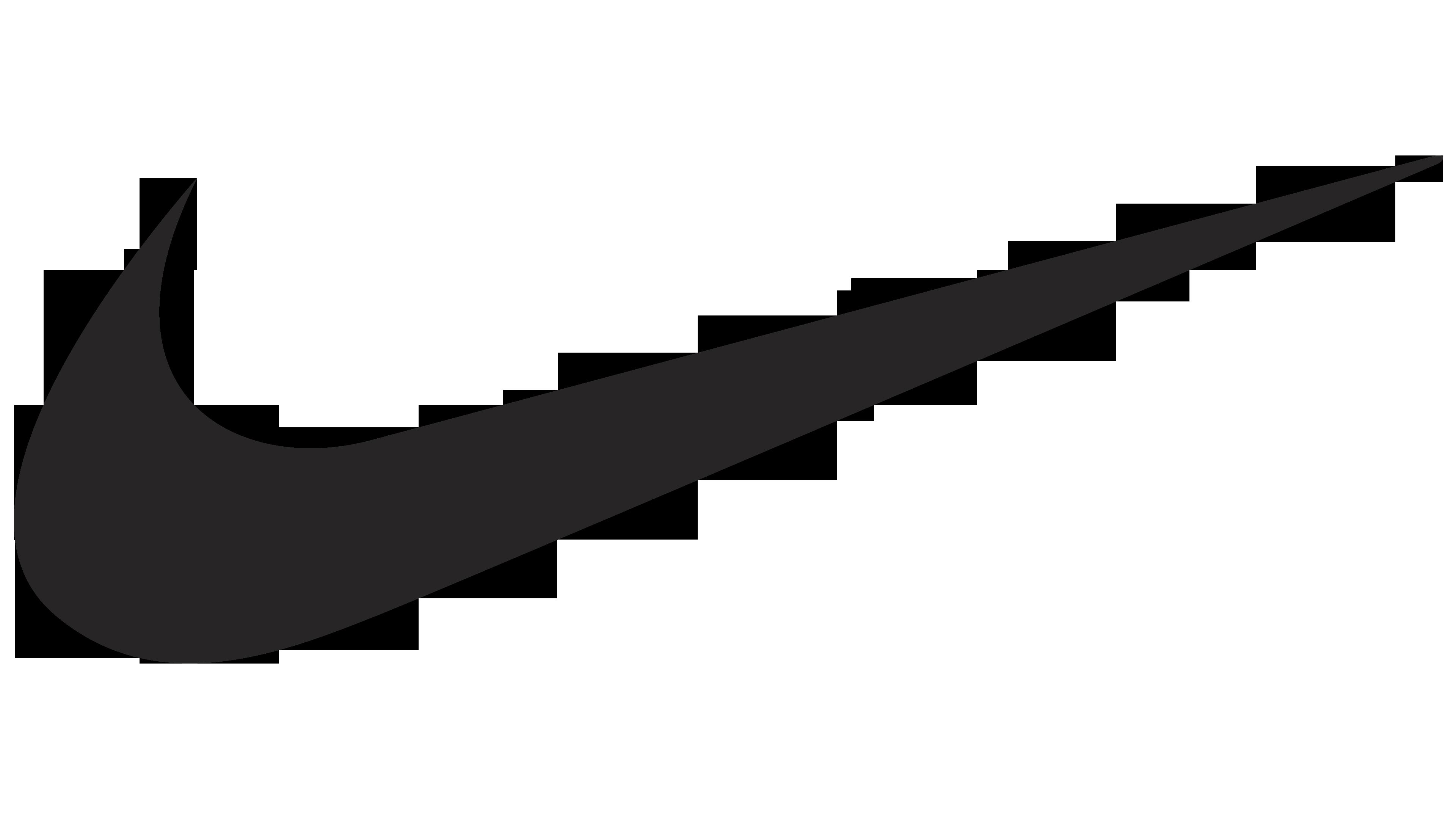 Nike logo clipart blanco vector library library Nike logo | LOGOS de MARCAS vector library library