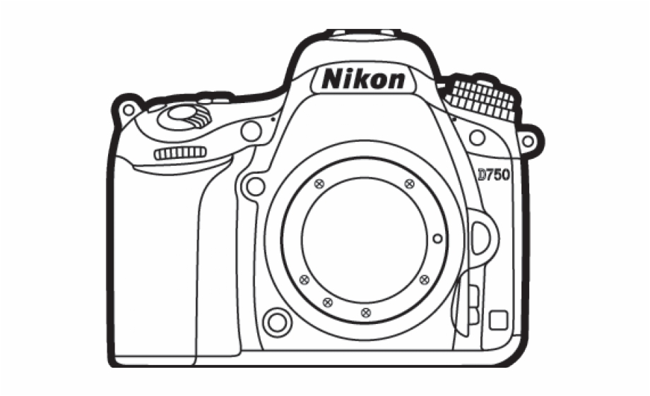 Nikon camera clipart hd freeuse download Nikon Camera Cliparts - Camara Nikon Para Colorear, Transparent Png ... freeuse download