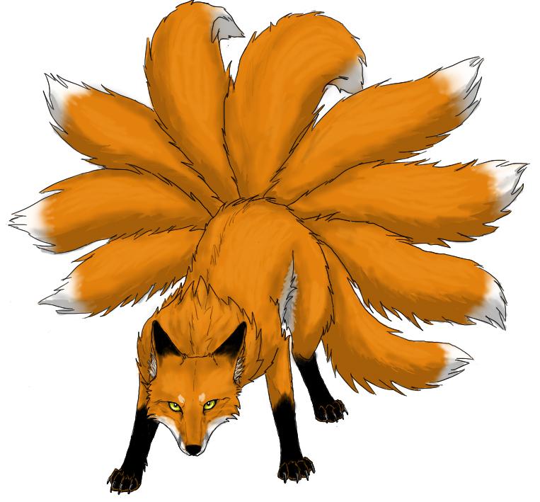 Nine tailed fox clipart clip art free stock Nine-tailed Fox by Vialir on Clipart library - Clip Art Library clip art free stock