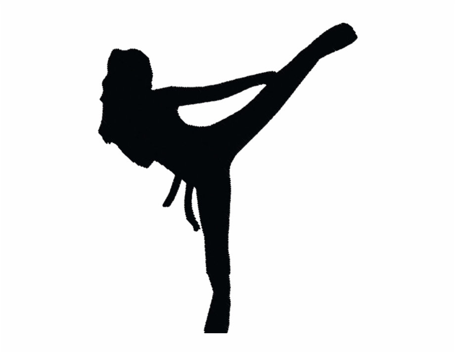 Ninja silhouette fighting clipart black and white clipart transparent download Transparent Karate Silhouette Girl | Transparent PNG Download ... clipart transparent download