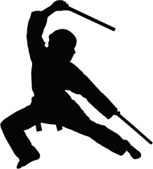 Ninja silhouette fighting clipart black and white clipart freeuse library Ninja Silhouette Silhouette Of Ninja | bd boy | Ninja, Silhouette ... clipart freeuse library