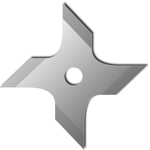Vector clipart ninja star silhouette free jpg black and white library Ninja Star Clip Art at Clker.com - vector clip art online, royalty ... jpg black and white library