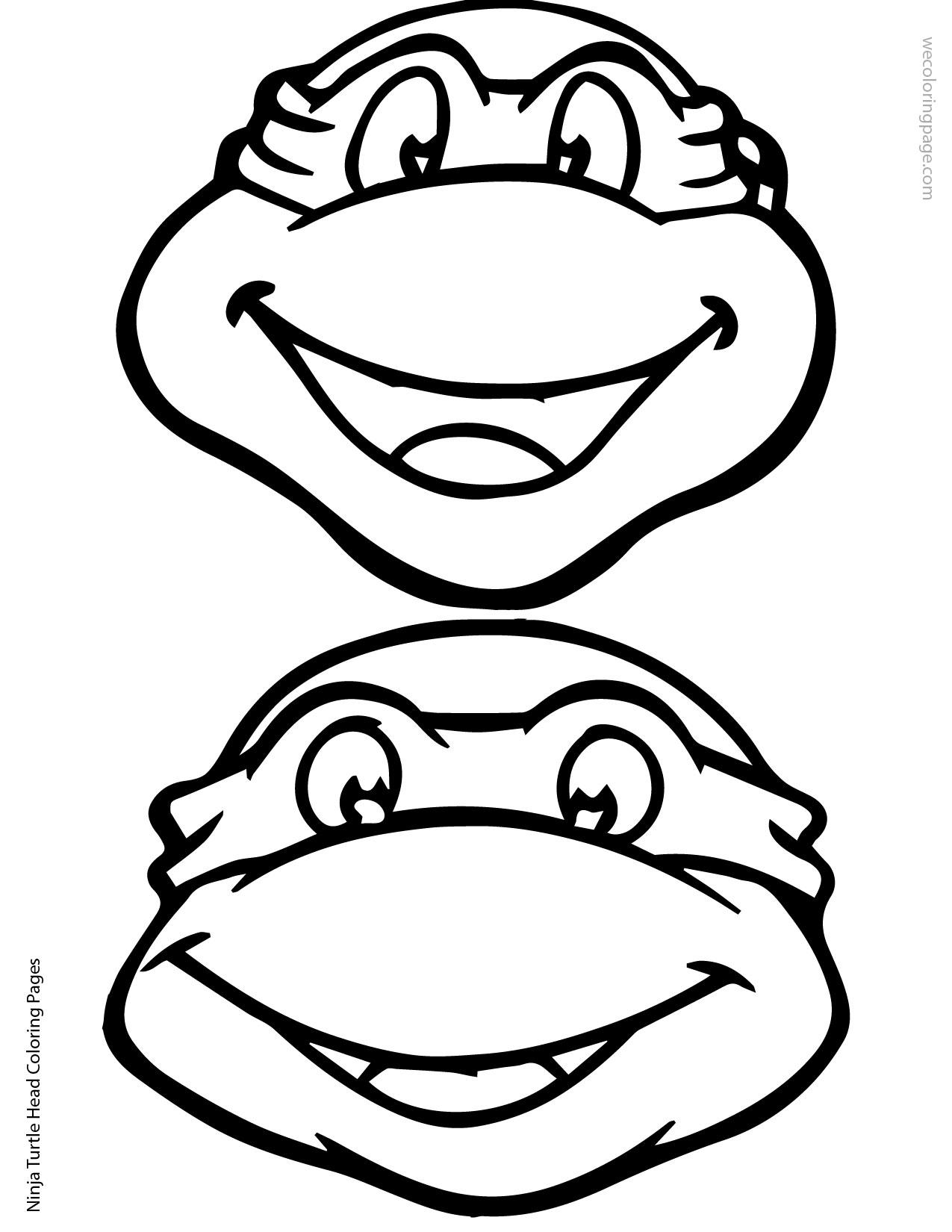Ninja turtle printable clipart jpg free library Ninja Turtle Head Template - Invitation Templates - ClipArt Best ... jpg free library