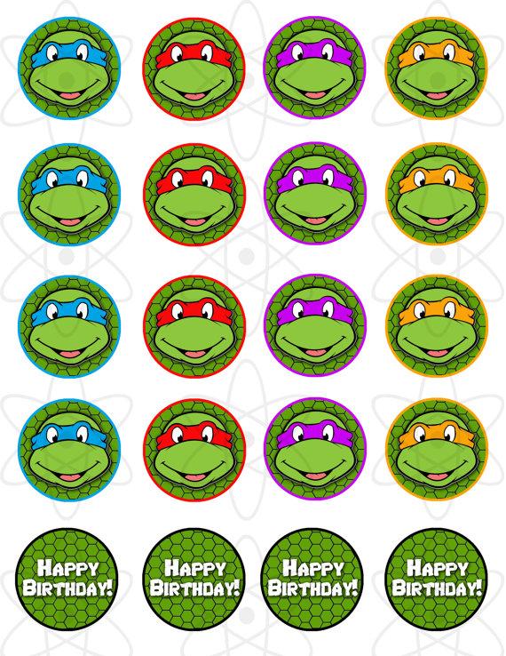 Ninja turtle printable clipart image freeuse download Ninja turtle cupcake clipart - ClipartFest image freeuse download