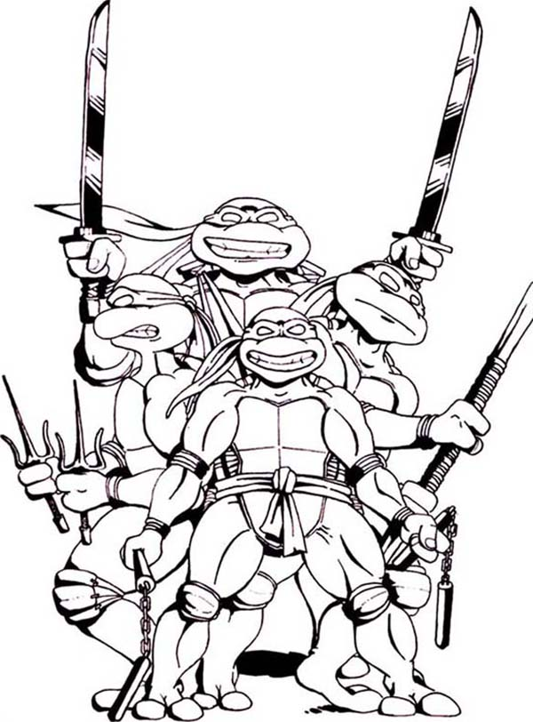 Ninja turtle weapon clipart black and white banner freeuse download Free Teenage Mutant Ninja Turtles Clipart, Download Free Clip Art ... banner freeuse download