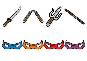 Ninja weapons clipart clip art freeuse Ninja Weapons Clipart | Free Images at Clker.com - vector ... clip art freeuse