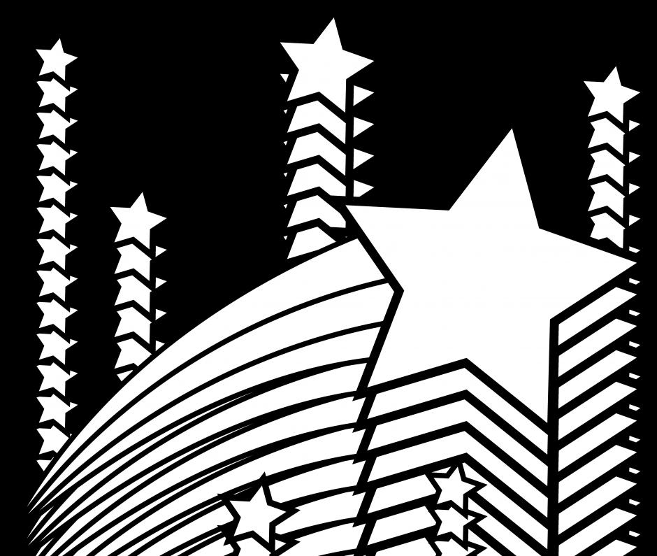 Ninjago star clipart vector black and white All star coloring pages vector black and white