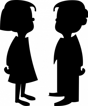 Nino y nina negros clipart free vector royalty free download Pin de cristina plantalech en persones siluetes | Silueta de niña ... vector royalty free download