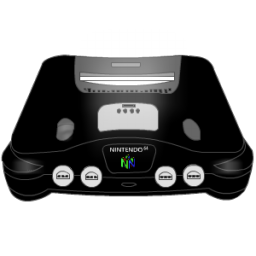Nintendo 64 clipart picture freeuse library Black Nintendo 64 Icon, PNG ClipArt Image | IconBug.com picture freeuse library
