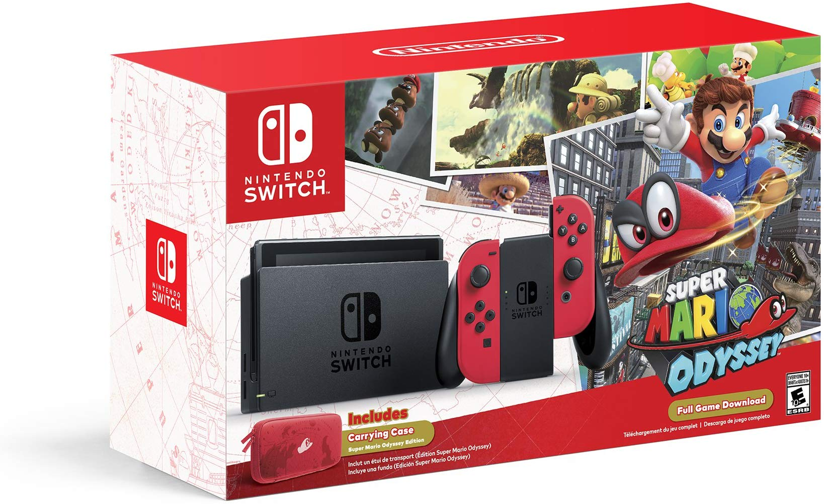 Nintendo switch box clipart clipart royalty free library Amazon.com: Nintendo Switch - Super Mario Odyssey Edition: Video Games clipart royalty free library