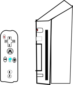 Nintendo wii clipart png transparent Wii Device With Joystick Clip Art at Clker.com - vector clip art ... png transparent