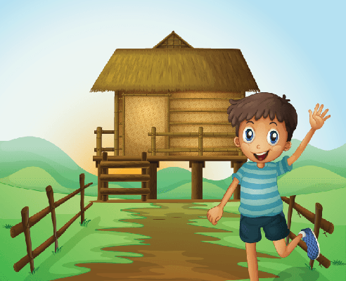 Nipa clipart clipart free stock Boy Waving His Hand in Front of A Nipa Hut   Clipart   PBS ... clipart free stock