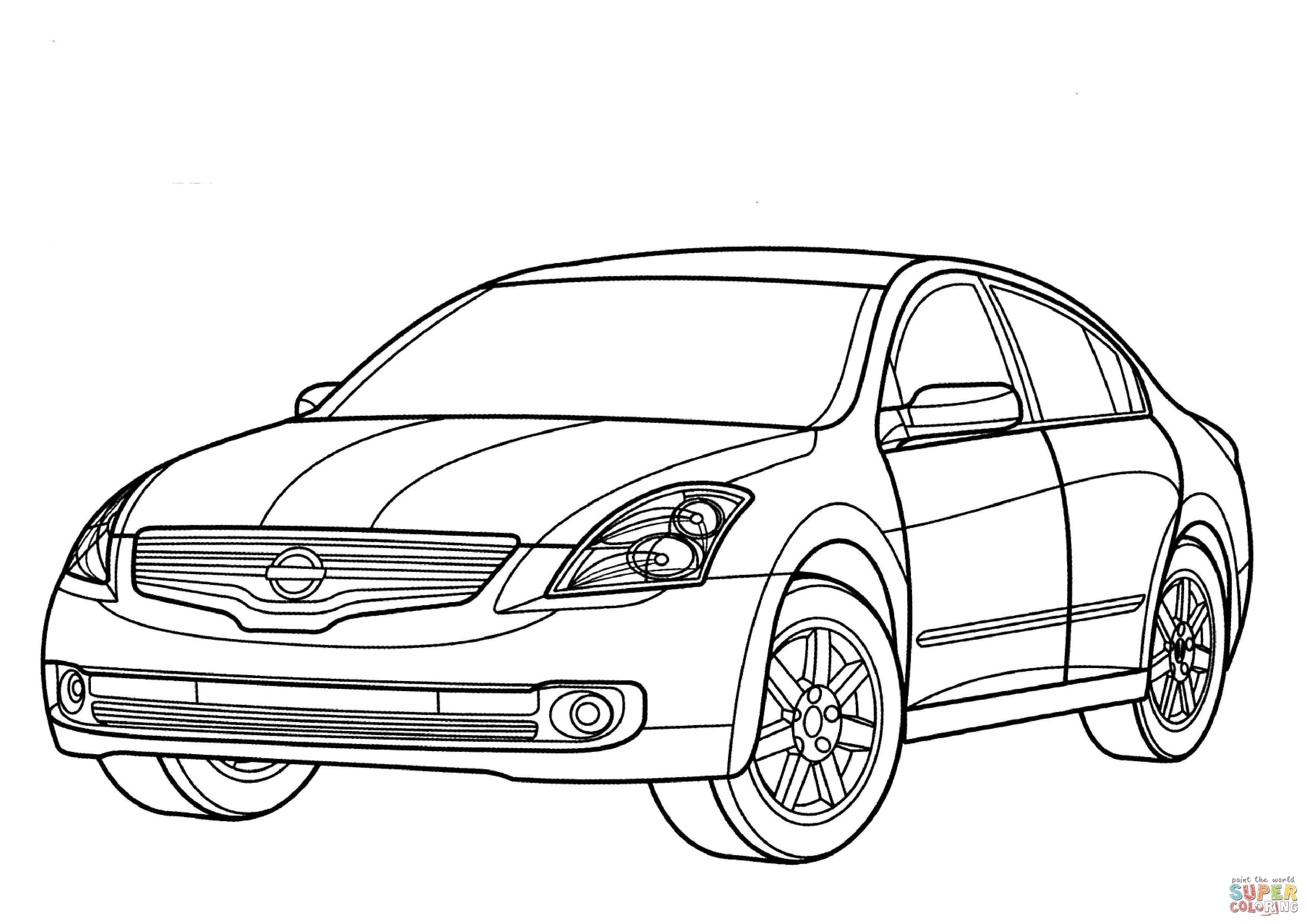Nissan altima clipart vector free stock Nissan Altima Hybrid coloring page | Free Printable Coloring Pages vector free stock