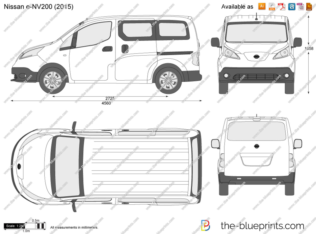 Nissan nv 200 clipart clip art freeuse Nissan e-NV200 vector drawing clip art freeuse