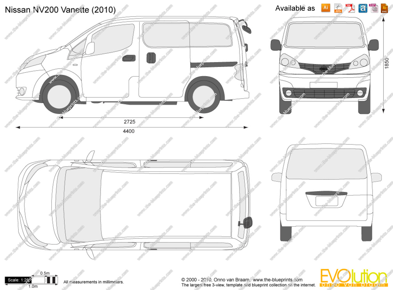Nissan nv 200 clipart clip art freeuse Nissan NV200 Vanette vector drawing clip art freeuse