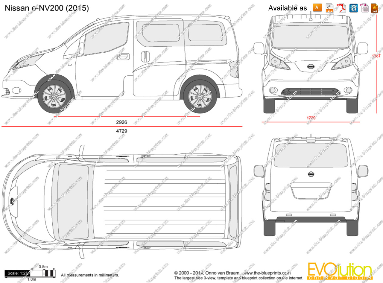 Nissan nv 200 clipart png black and white library Nissan e-NV200 vector drawing png black and white library