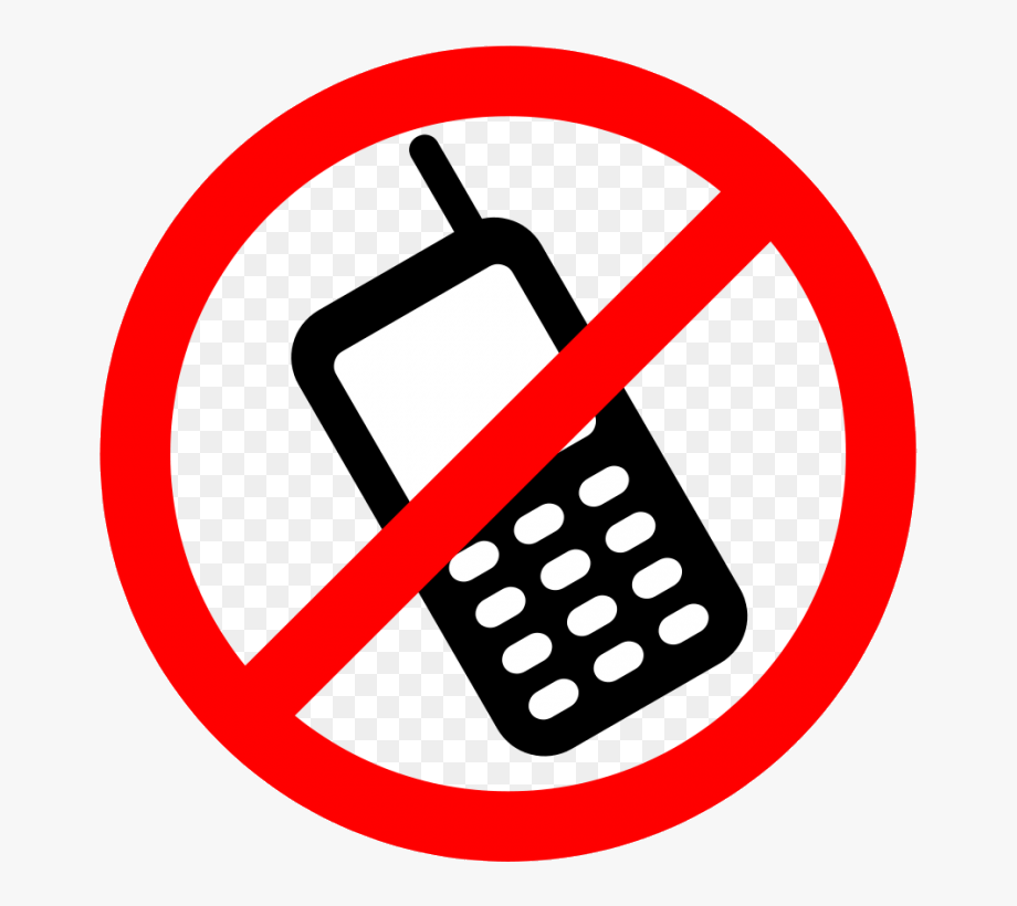 No cell phone clipart black and white png free download Phone Mobile Clip Art Black And White No Cell Clipart ... png free download