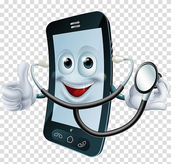 No cell phone in the doctor s office clipart png free download Black smartphone wearing stethoscope, Cartoon Cell Phone ... png free download