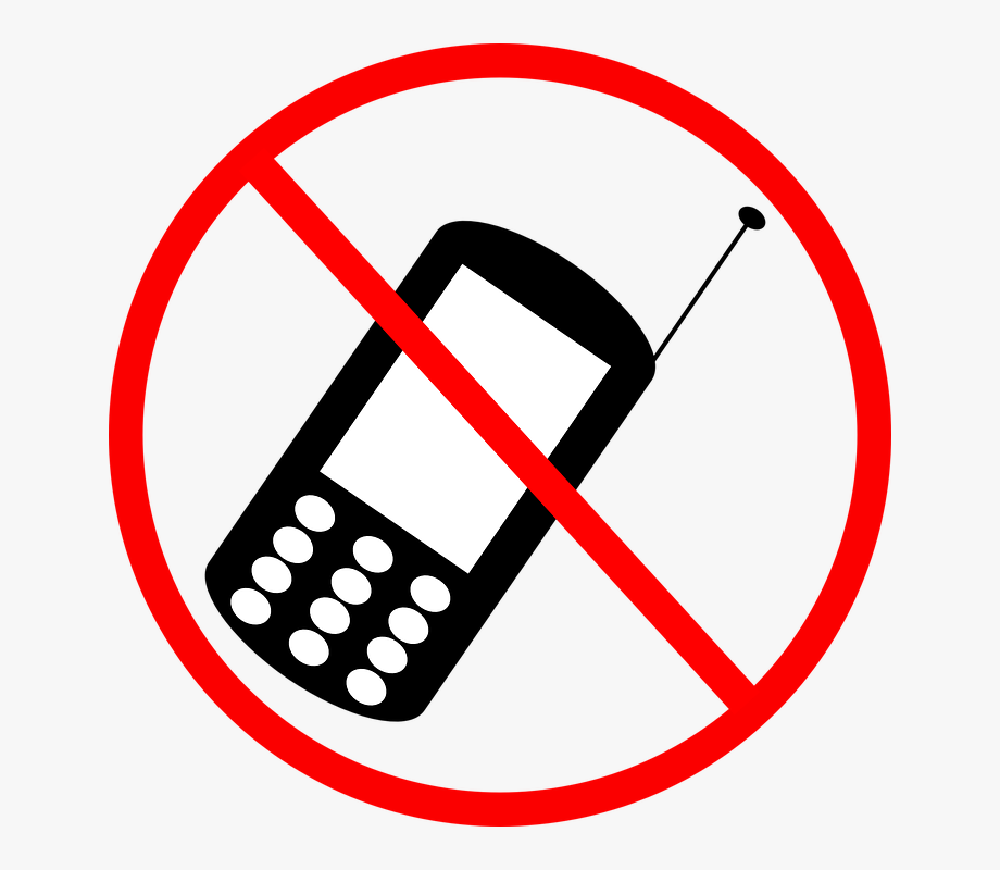 No cell phones clipart
