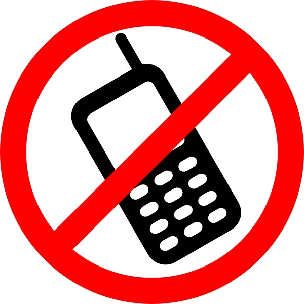 No cell phones clipart picture freeuse library No Cell Phones Allowed clip art Free vector in Open office ... picture freeuse library
