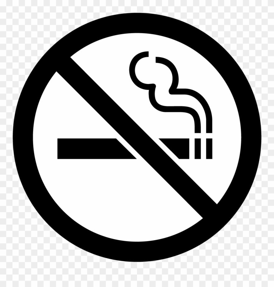 No clipart black and white graphic black and white stock Cigarettes Vector Black And White - No Smoking Here Sign ... graphic black and white stock