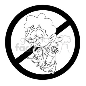 No clipart black and white clip freeuse stock black and white no cupid sign clipart. Royalty-free clipart # 394256 clip freeuse stock